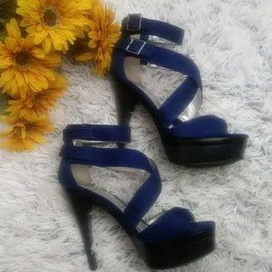 Michael Antonio blue strap Heels 8.5